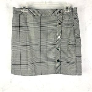 [J.O.A] Gray Plaid Skirt